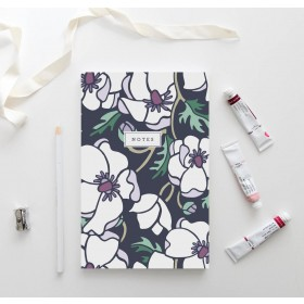 Marianne Anemone Notebook // Hand-Illustrated Botanical Journal
