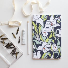 Monja Blanca Orchid Notebook // Hand-Illustrated Botanical Journal