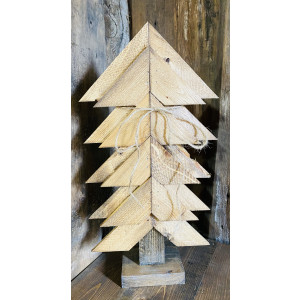 Wood Christmas Tree: Light Brown Stain