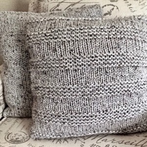 Knit Striped Throw Pillow