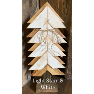 Wood Christmas Tree: White & Stain