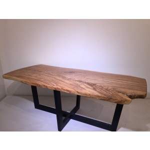 Table - Ash Slab Top w/Ash Base (Blue/Black)