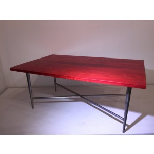 Table - Red Ash w/Metal Base