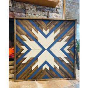 Geometric Wood Art: The Snowflake 36x36