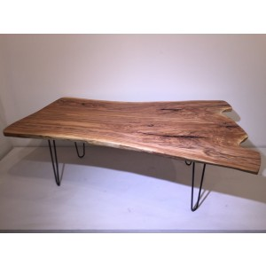 Table - Bookmatch Ash Top w/Hairpin Legs