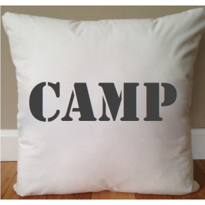 Upta Camp Throw Pillow