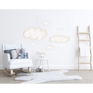 Watercolor Cloud wall decal