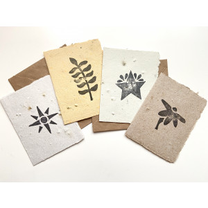 Set of 4 Paper Seed Cards, All Through The Seasons