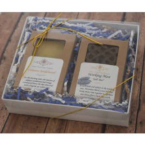 """""""You're the Man"""" Gift Set - One Bar Soap, One Salt Bar Soap - Father's Day Gift"""