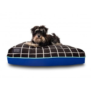 Small Gridlock Dog Bed - Ebony