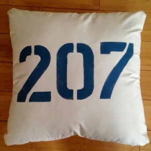 "Nautical Printed Pillow – ""207"" (COVER ONLY)"
