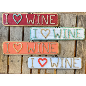 I ♥️ Wine sign-Handmade Rope letter sign-Unique gift