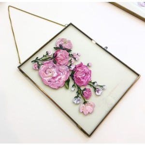 Floral Painting on Glass
