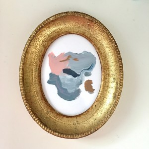 Abstract in Vintage Gold Frame (II)
