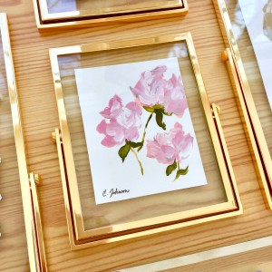 Floral Painting in Gold Frame