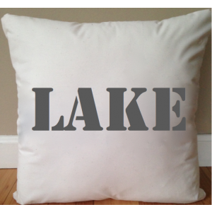 Day at the Lake Throw Pillow Cover