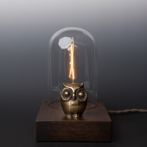 Owl Edison Lamp // Touch-Controlled