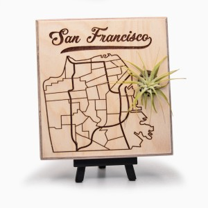 Urban Map Garden - San Francisco - Maple Ply