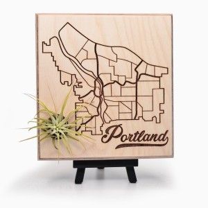 Urban Map Garden - Portland - Maple Ply