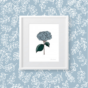 Hydrangea Collection: Southern Floral Print