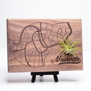 Urban Map Garden - Nashville - Walnut