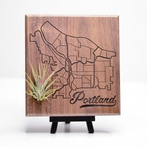 Urban Map Garden - Portland - Walnut