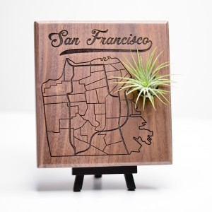 Urban Map Garden - San Francisco - Walnut