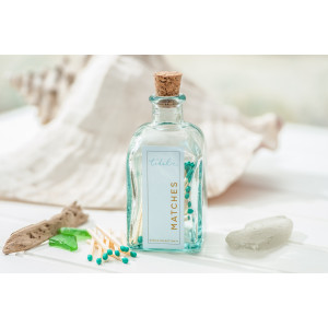 Apothecary Match Bottle - Turquoise Tip