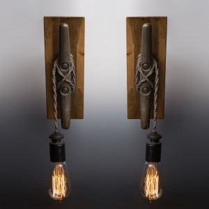 Nautical Sconce PAIR // Touch Controlled