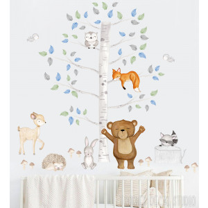 Boys Woodland fabric wall decals
