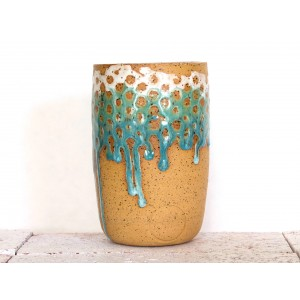 Teal and White Tumbler