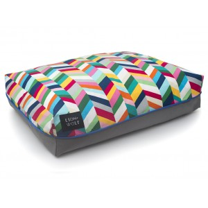 Small Chevron Dog Bed - Technicolor