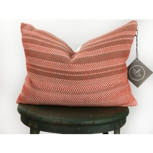 Hand Woven Coral Pillow