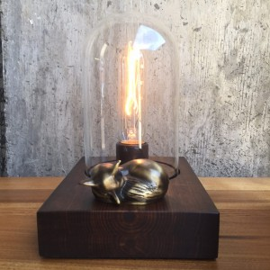 Sleeping Fox Edison Lamp // Touch Controlled