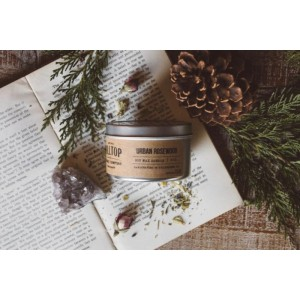 Urban Rosewood - Tin Candle - Hand Poured Soy Candle - 8 oz