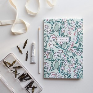 Wild Sweet Pea Notebook // Hand-Illustrated Botanical Journal