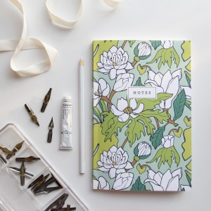 Water Lily & Lotus Notebook // Hand-Illustrated Botanical Journal