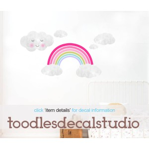 Rainbow & Clouds Wall Decals