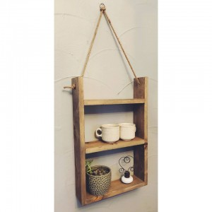 Wooden Hanging Shelf