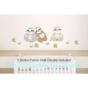 Sloth Wall Decals