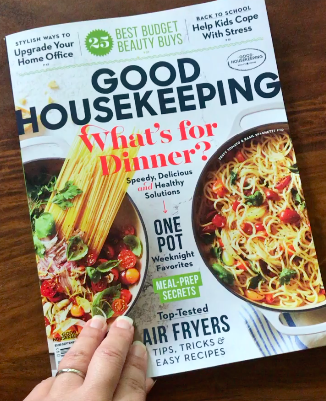 Cover of Good Housekeeping September Issue with Live Buy Local mention